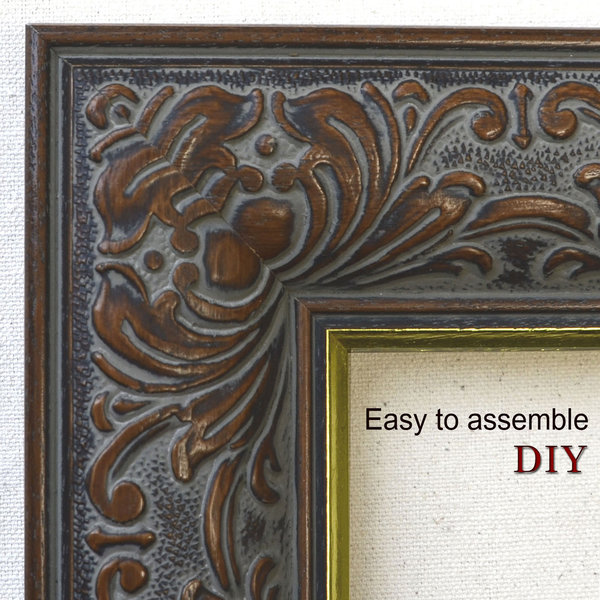 Classic Embossed Leaf Design Wooden Picture Frames in DIY [PFC-001]